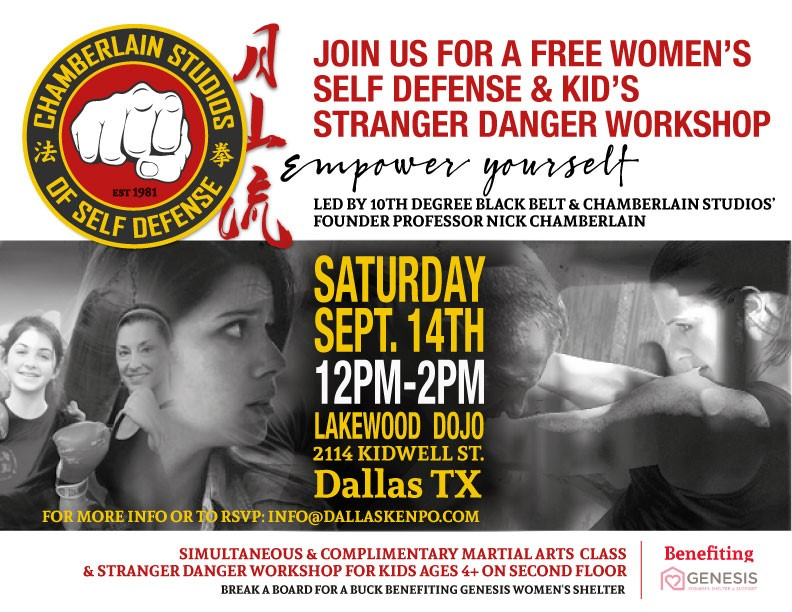Free Women's Self-Defense & Kids' Stranger Danger Workshop – Fall 2019