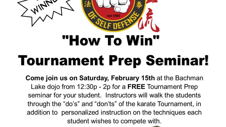 "Kids ""How To Win"" Tournament Prep Workshop!"