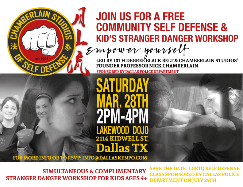 Free Women's Self Defense & Kid's Stranger Danger Workshop