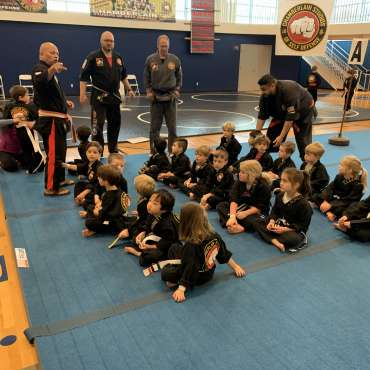 Beginners' Show at the Kids Kenpo Martial Arts tournament at Episcopal School of Dallas