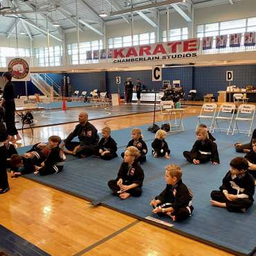 The Beginners Show at the Kids Kenpo Martial Arts tournament at Episcopal School of Dallas