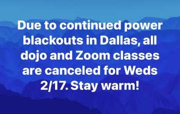 Dojo/Zoom Canceled 2/17/21