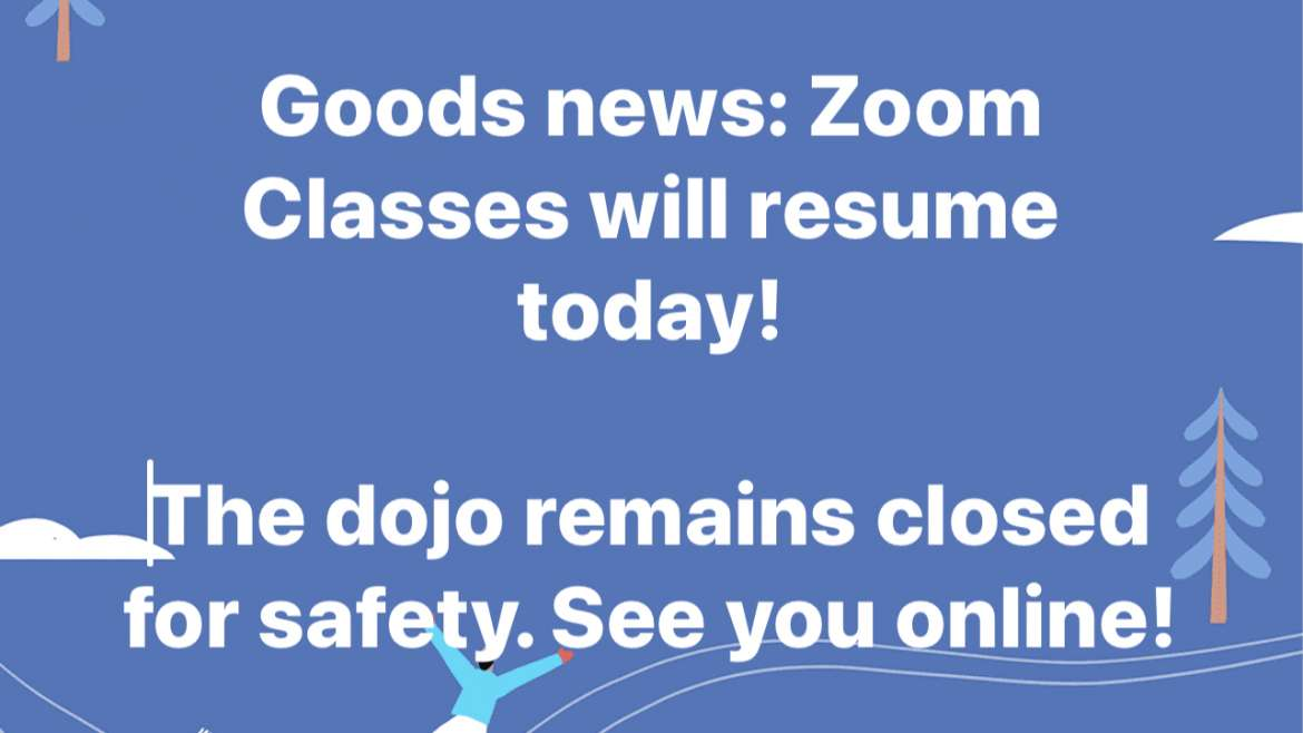 Zoom Classes Resuming 2/18